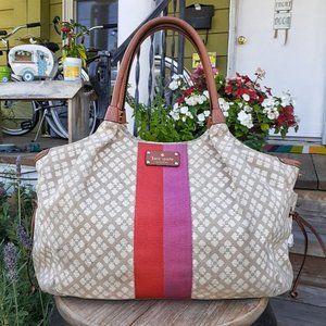 Kate Spade Classic Stucco Stevie Diaper Bag